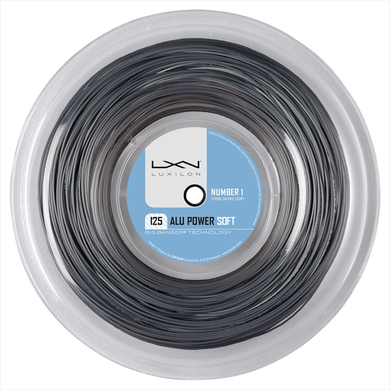 Luxilon Alu Power Soft 200m 1,25mm Reel Grey