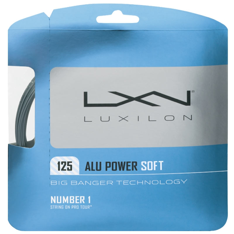 Luxilon Alu Power Soft 12,2m 1,25mm Set Silver