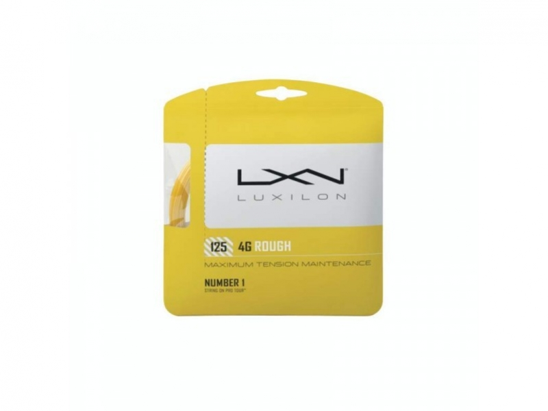 Luxilon 4G Rough 125 Set Yellow